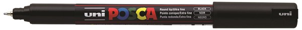 Uni Posca Marker 0.7mm Ultra-Fine Pin Tip Black -