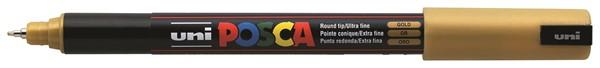 Uni Posca Marker 0.7mm Ultra-Fine Pin Tip Gold -