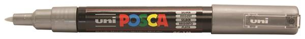 Uni Posca Marker 0.7mm Ultra-Fine Round Tip Silver -