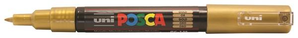 Uni Posca Marker 0.7mm Ultra-Fine Round Tip Gold -