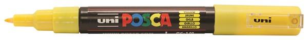 Uni Posca Marker 0.7mm Ultra-Fine Round Tip Yellow -