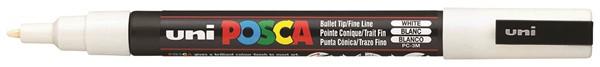 Uni Posca Marker 0.9-1.3mm Fine White -