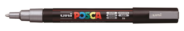 Uni Posca Marker 0.9-1.3mm Fine Silver -