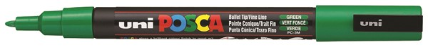 Uni Posca Marker 0.9-1.3mm Fine Green -