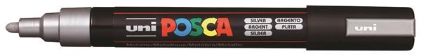 Uni Posca Marker 1.8-2.5mm Med Bullet Silver -