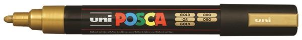 Uni Posca Marker 1.8-2.5mm Med Bullet Gold -
