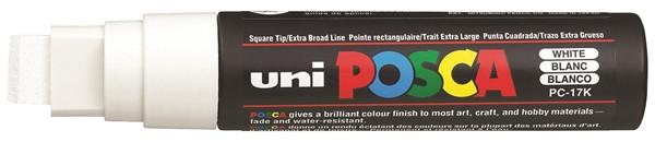 Uni Posca Marker 15.0mm Extra-Broad Chisel White -