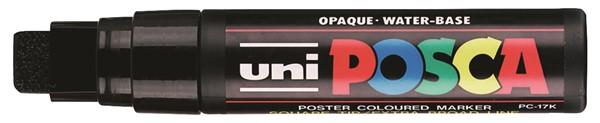 Uni Posca Marker 15.0mm Extra-Broad Chisel Black -