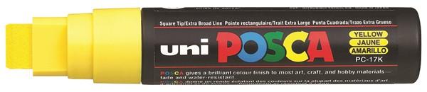 Uni Posca Marker 15.0mm Extra-Broad Chisel Yellow -