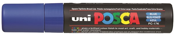 Uni Posca Marker 15.0mm Extra-Broad Chisel Blue -