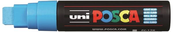 Uni Posca Marker 15.0mm Extra-Broad Chisel Light Blue -