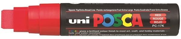 Uni Posca Marker 15.0mm Extra-Broad Chisel Red -