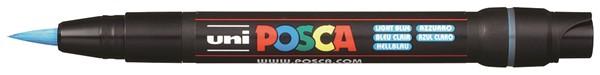 Uni Posca Marker 0.1-10.0mm Brush Tip Light Blue -
