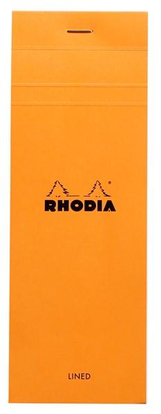 Rhodia Bloc Pad No. 8 Shopping Lined Orange -