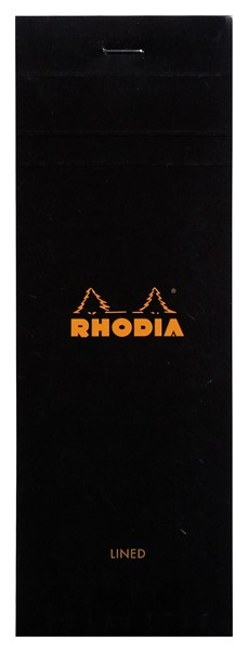 Rhodia Bloc Pad No. 8 Shopping Lined Black -