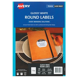 Avery Glossy Round Labels L7100 10 Sheets