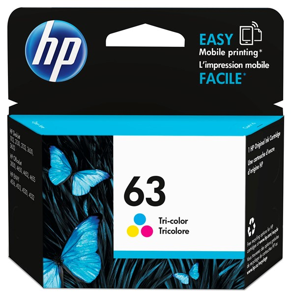 HP Ink Cartridge F6U61AA 63 Tri-Colour -