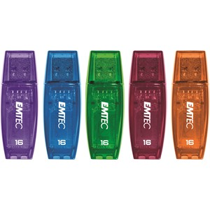 Emtec USB Flash Drive 16GB C410 Assorted Colours