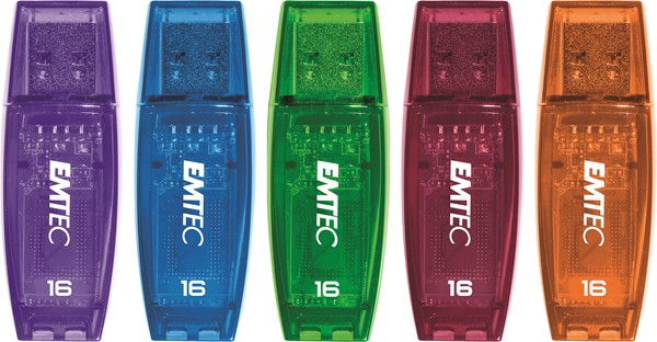Emtec USB Flash Drive 16GB C410 Assorted Colours - pr_427639