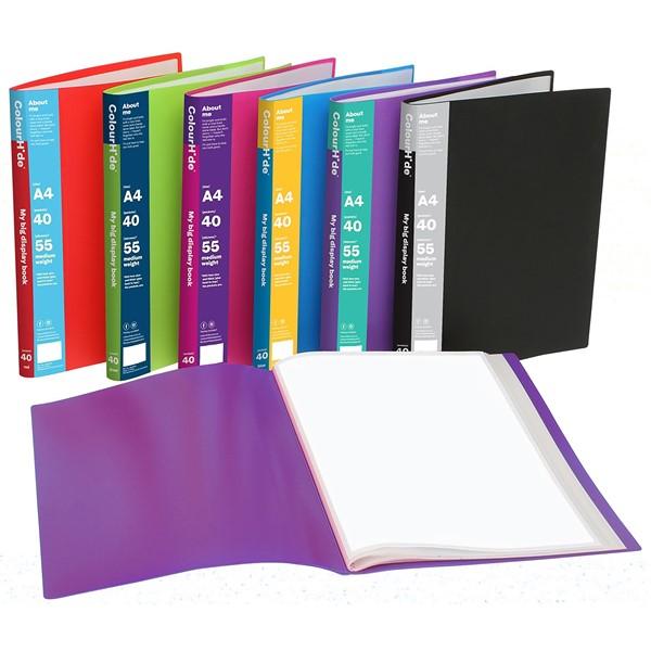 Colourhide Display Book Non-Refillable 40 Pocket Green - pr_427688
