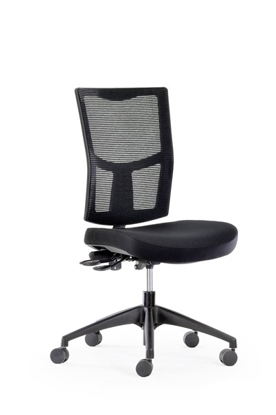 Knight Urban Mesh Chair Black -