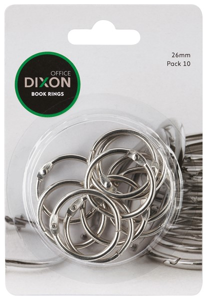 Dixon Book Rings 26mm 10 Pack -