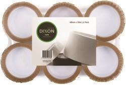 Dixon Packaging Tape Tan 48mmx50m 6 Pack - pr_1702586