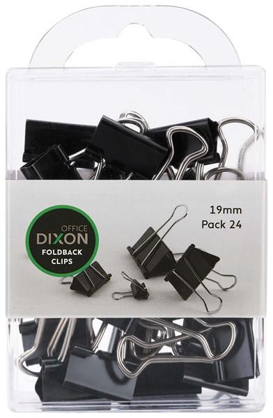 Dixon Foldback Clips 19mm Pack 24 -