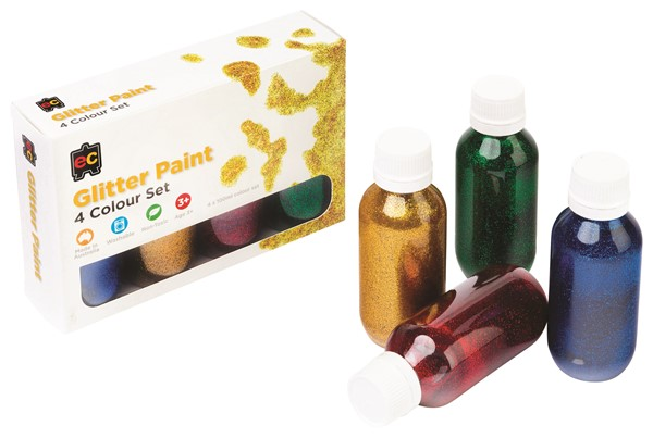 PAINT ACRYLIC EC GLITTER SET4 100ML - pr_1774195