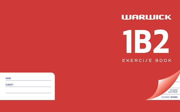 Warwick Exercise Book 1B2 14mm Ruled 24lf (JWBJ Equivalent) - pr_427670