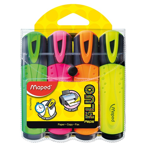 Maped Fluo Peps Highlighters Pack 4 -