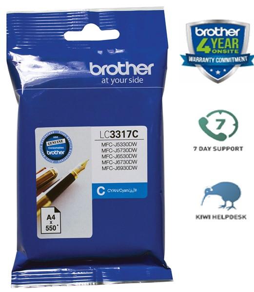 Brother Ink Cartridge LC3317LC Cyan -