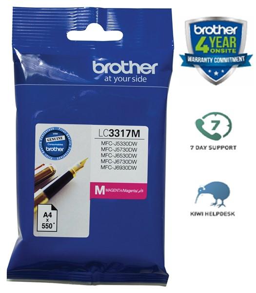 Brother Ink Cartridge LC3317M Magenta -