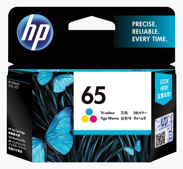 HP Ink Cartridge N9K01AA 65 Tri-Colour - pr_1702784