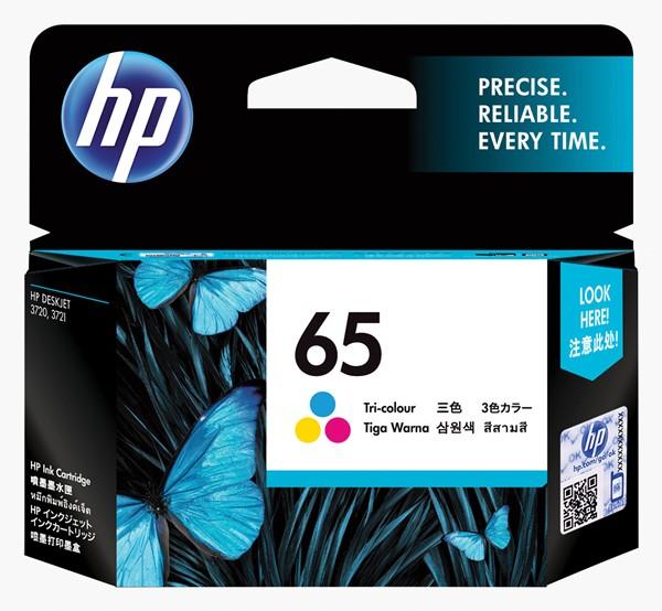 HP Ink Cartridge N9K01AA 65 Tri-Colour -