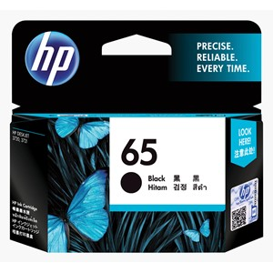 HP Ink Cartridge N9K02AA 65 Black
