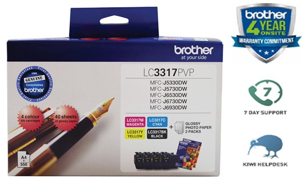 Brother Ink Cartridge LC33173PK Colour 3 Pack -