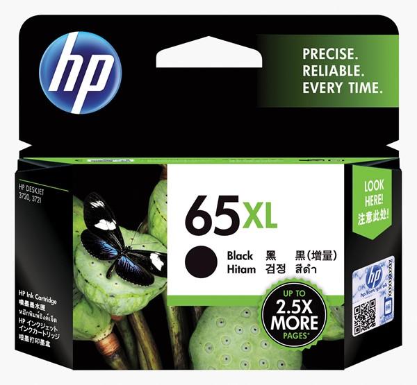 HP Ink Cartridge N9K04AA 65XL Black High Capacity -