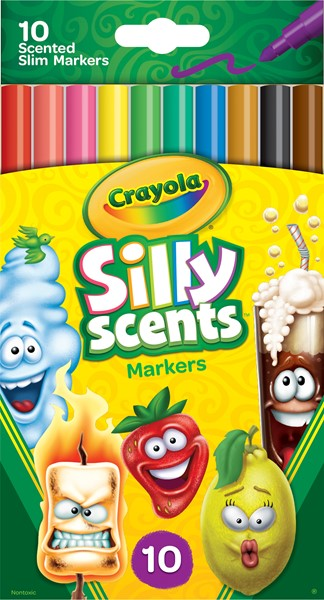 Crayola Silly Scents Slim Markers 10 Pack - pr_1702627