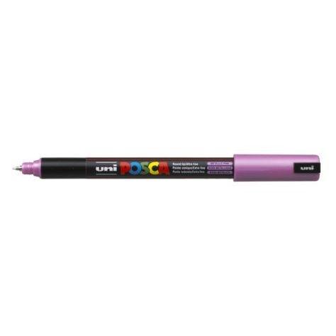 Uni Posca Marker 0.7mm Ultra-Fine Pin Tip Met Pink -