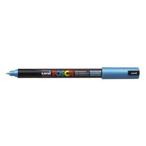 Uni Posca Marker 0.7mm Ultra-Fine Pin Tip Met Blue -