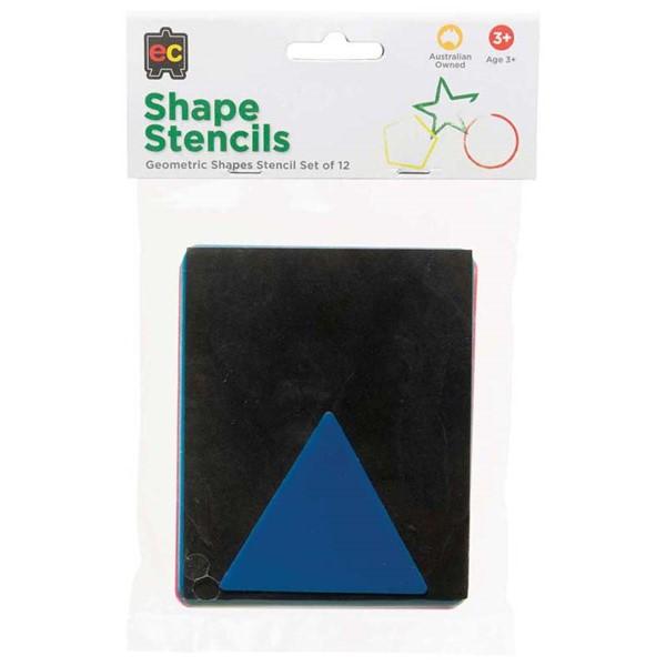 EC Stencil Set Geometric Shapes Pack 12 -
