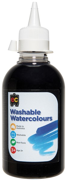 PAINT W/COLOUR EC WASHABLE 250ML BLACK - pr_1774206