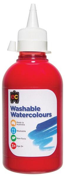 PAINT W/COLOUR EC WASHABLE 250ML RED - pr_1774214
