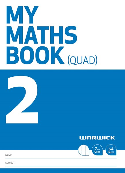 Warwick FSC Mix 70% My Maths Book 2 7mm Quad 64 Page - pr_1852415