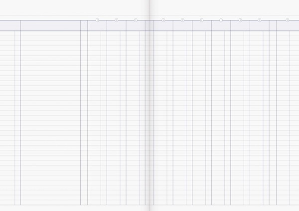 Account Book Milford Limp A4 10MC Green -