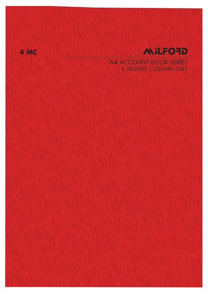 Account Book Milford Limp A4 4MC Red - pr_1773038