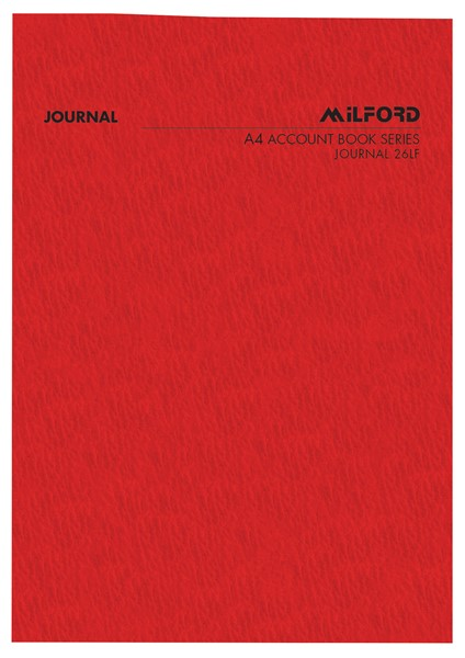Account Book Milford Limp Journal A4 Red -