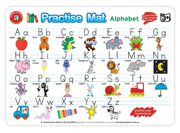 EC Practice Mats Alphabet -