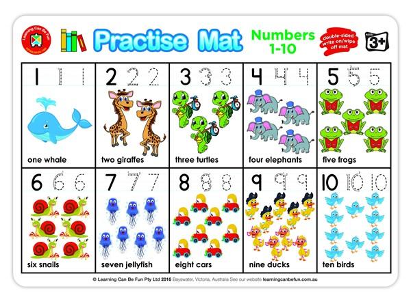 EC Practice Mats Numbers 1-10 -